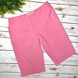 Trina Turk Pink Bermuda Walking Shorts